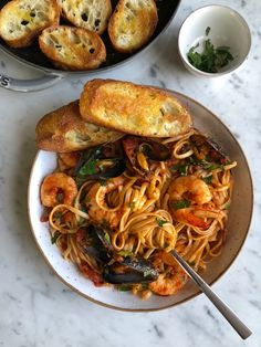 Seafood Pasta with Linguine Shrimp and Mussels. If there's one thing my family will always eat, it's seafood pasta. This one takes a little more time but it's so wonderfully delicious! Seafood Linguine, Linguine Recipes, Seafood Pasta Recipes, Fish Recipes, Pasta With Seafood, Mixed Seafood Recipe, Shrimp Meals, Seafood Meals, Cooking Recipes
