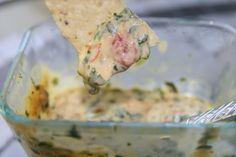 Easy Hot Spinach Salsa Queso Dip - MasterCook