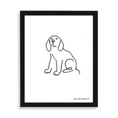 Spruce up the look of your kitchen, hallway or bathroom with this adorable, contemporary Beagle dog framed line drawing. A must-have for dog lovers.