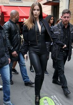 Barbara Palvin in Leather Catsuit - Paris 9/29/ 2016                                                                                                                                                                                 More