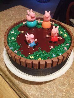Image result for peppa pig cake home made