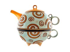 Ceramic tea for one set, Ceramic teapot, Teapot and tea cup, teapot set, Unique…