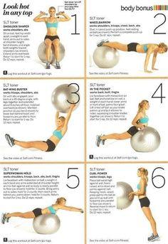 Workout ball workouts
