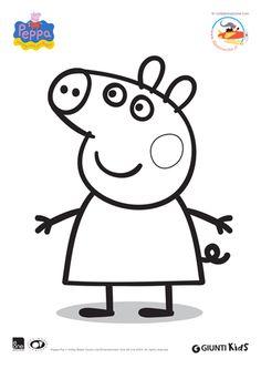 Peppa pig template peppa pig fondant cake ideas for Peppa pig disegni da colorare