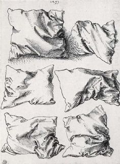 design-is-fine:  Albrecht Dürer, six pillows, pen an ink on...