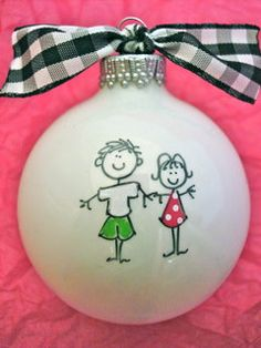 Mini Happy Couple  Hand Painted Personalized by HappyYouHappyMe, $14.00