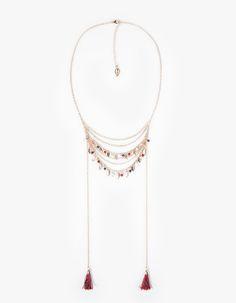 Collar cadenas finas y colgantes - COLLARES - WOMAN | Stradivarius Mexico