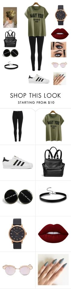 """"" by keilydelgado on Polyvore featuring adidas, Givenchy, Marc Jacobs, Lime Crime and Le Specs"