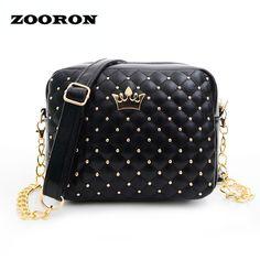 2016 new style fashion women bag five color madame chain shoulder tide rivet small shopping shoulder bag