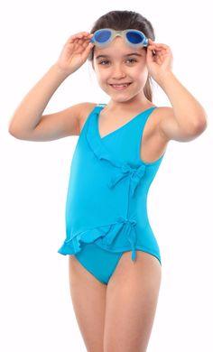 d92e02eed1db0 Incontinence Swimwear. Kes-Vir Girls Waterfall Swimsuit. Incy Wincy