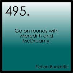 Grey's Anatomy {fictional bucket list}