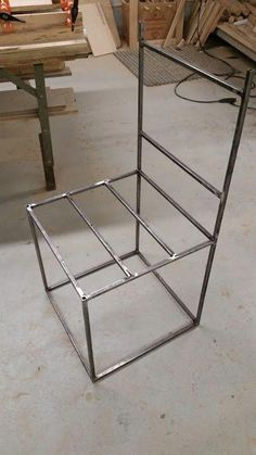 Metal and Wood Chair Metal Chair Steel Chair Reclaimed Wood Compact Table And Chairs, Balcony Table And Chairs, Farmhouse Table Chairs, Room Chairs, Welded Furniture, Iron Furniture, Steel Furniture, Repurposed Furniture, Cheap Office Chairs