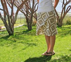 Another Skirt Made from a Tablecloth (!)