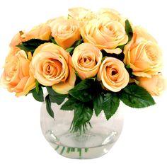 Faux Peach Rose