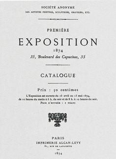 Frontespizio del catalogo della prima mostra impressionista del 1874