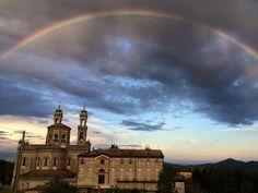 Arcobaleno sopra al Santuario del Selvaggio (Giaveno) #myValsusa 06.06.16 #fotodelgiorno di Luca Giorda