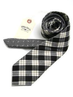General Knot & Co ++ Classic Check & Mini Floral Print Necktie