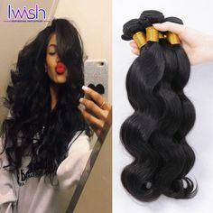 Iwish Hair Peruvian Virgin Hair Body Wave 4 Bundles Peruvian Body Wave Virgin Peruvian Hair Bundles Human Hair Extensions