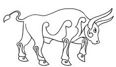 Celtic Bull Celtic Tattoo Symbols, Celtic Art, Coloring Books, Coloring Pages, Adult Coloring, Viking Embroidery, Embroidery Ideas, Bull Tattoos, Tatoos