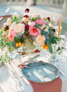 Boticelli Inspired Table Setting