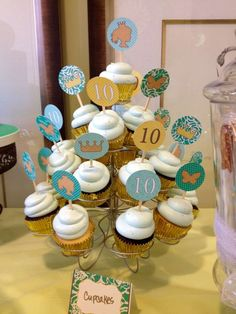 Princess birthday party cupcakes! See more party planning ideas at CatchMyParty.com!