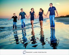 Family Beach Portrait by Memory Lane Portraits of Hilton Head Island. Family of five beach portrait #HHI #ThingsToDoInHHI