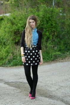 lusting after this polka dot skirt