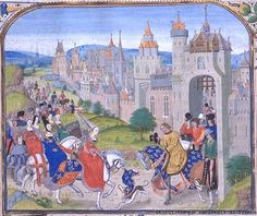 Isabella of France is welcomed in Paris.