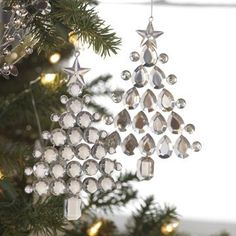 ~ Crystals ~ Just glue crystals on clear plasic & trim....love this idea....