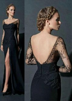 Prom Dresses Long With Sleeves, Black Prom Dresses, Sexy Wedding Dresses, Cheap Wedding Dress, Ball Dresses, Sexy Dresses, Ball Gowns, Dresses 2016, Dress Black