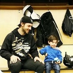 Kris Letang and son. The cutest thing I've ever seen!