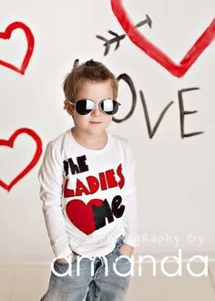 Valentines day shirt, Ladies love me, Valentines day baby boy, shirt, 12 months, 18 months, 2 T, 4 T, 5T, 6T youth