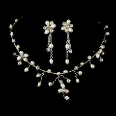 Handcrafted Real Pearl & Diamante