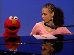 Alicia Keys with Elmo on Sesame Street - Dancin' (Fallin') - YouTube