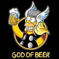 Homer - God of Beer, The Simpsons Simpson Wallpaper Iphone, Funny Phone Wallpaper, Simpsons Shirt, The Simpsons, Cartoon Art, Cartoon Characters, Beer Cartoon, Desenho Pop Art, Beer Art