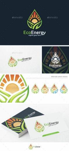 Eco Energy - Logo Template: Nature Green Logo Design Template by putra_purwanto. Logo Design Template, Logo Templates, Logo Branding, Branding Design, Clover Logo, Environment Logo, Gfx Design, Graphic Design, Coffee Logo