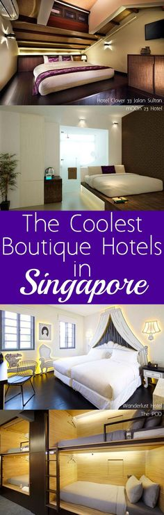 Singapore's known to be boring but it's accommodation is anything but. Check out the Coolest Boutique Hotels in Singapore that won't blow your budget! | #YourSingapore #Singapore #Asia #BoutiqueHotel #TravelTip