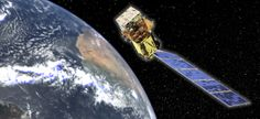An artist's conception of the Landsat Data Continuity Mission spacecraft, portraying Landsat 8 in orbit. / Courtesy NASA