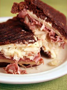 This is a classic. We made it on our Black Russian (Pumpernickel) Bread. We didn't overwhelm it with sauerkraut and it was just right.