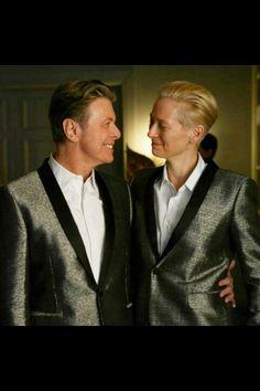 David Bowie with Tilda Swinton