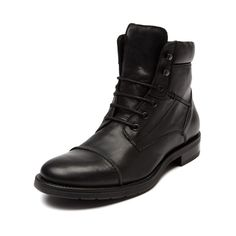 Shop for Mens GBX Veno Boot in Black at Journeys Shoes. Shop today for the hottest brands in mens shoes and womens shoes at Journeys.com.Urban casual with a stylish sense for dressing up. The versatile Veno from GBX features a leather upper, padded collar, rubber sole, and stitched toe detail for great looks and added durability. Fastened by a 6-eyelet lace closure, including two hook eyelets for an adventurous hiker style lace option.