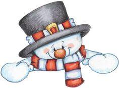 snowman peeker
