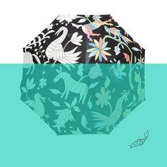 Wet & Reveal Limited Edition Umbrella by artist Ana Kane - Straight Umbrella - Auto Open - Fibber Glass - Art Object