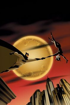 Batman & Catwoman by Darwyn Cooke Cover of Batman: Gotham Adventures Comic Book Characters, Comic Book Heroes, Comic Character, Comic Books Art, Character Design, Catwoman Y Batman, Im Batman, Batgirl, Batman 1966