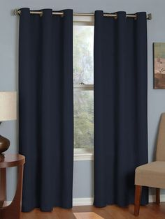 Microfiber Grommet Blackout Window Curtain Panel By Eclipse At Gilt