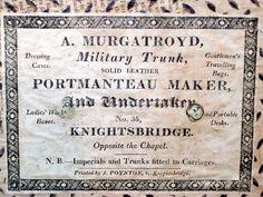 A Murgatroyd  Knightsbridge  London    Christopher Clarke Antiques Archive