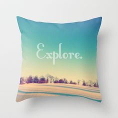 Explore Throw Pillow by Josrick - $20.00