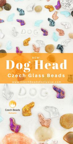 Welcome, unique�Dog Head Czech glass beads! | SAVE it!| www.CzechBeadsExclusive.com #czechbeadsexcluisve #czechbeads