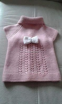 pink-baby-vest-model-baby-clothing-knitting-kids-knitting-needles/ - The world's most private search engine Baby Knitting Patterns, Knitting For Kids, Easy Knitting, Knitting Designs, Baby Patterns, Knitting Needles, Sewing Patterns, Baby Vest, Baby Cardigan