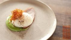 CS_Duck Egg and Ham with Green Peas Puree